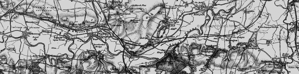 Old map of Weston-on-Trent in 1895
