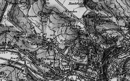 Old map of Weston Park in 1898