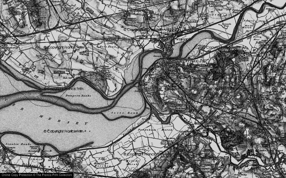Old Map of Weston Point, 1896 in 1896