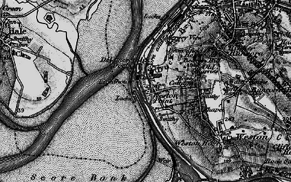 Old map of Weston Point in 1896