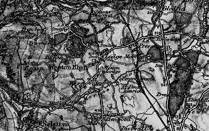 Old map of Weston Rhyn in 1897