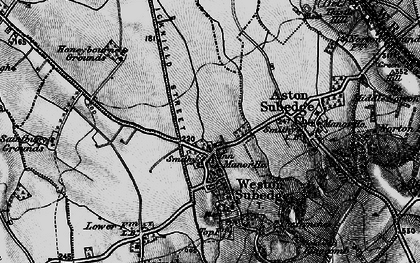 Old map of Weston-sub-Edge in 1898