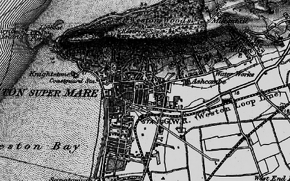 Old map of Weston-super-Mare in 1898