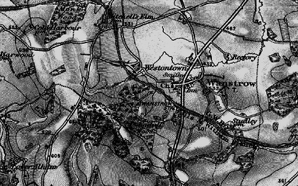 Old map of Weston Town in 1898