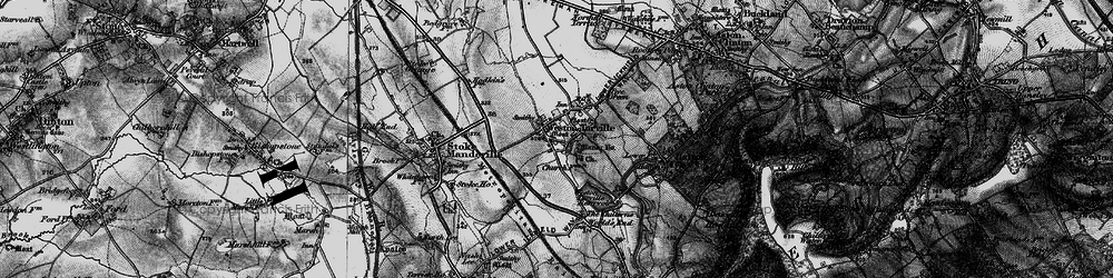Old map of Weston Turville in 1895