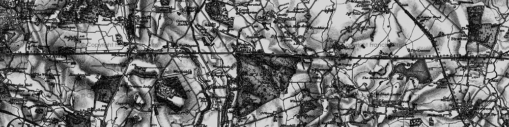 Old map of Weston Park in 1897