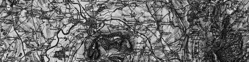 Old map of Weston under Penyard in 1896