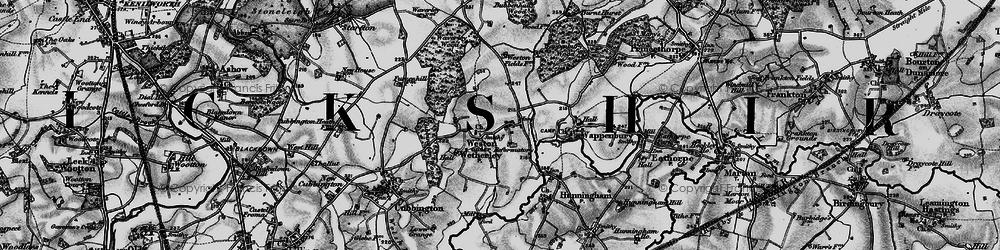 Old map of Weston under Wetherley in 1898