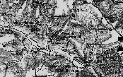 Old map of Weston Underwood in 1895
