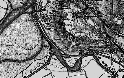 Old map of Weston Village in 1896