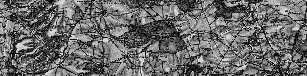 Old map of Westonbirt School in 1897