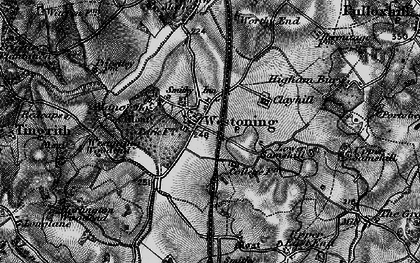 Old map of Westoning in 1896
