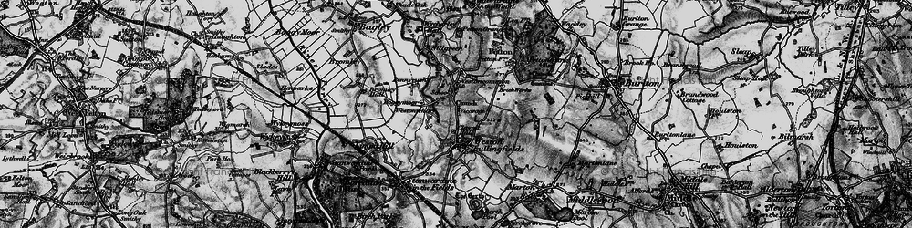 Old map of Weston Ho in 1899