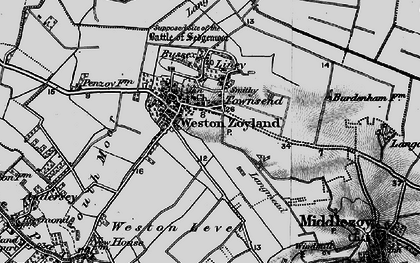 Old map of Westonzoyland in 1898