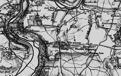 Old map of Westow Low Grange in 1898