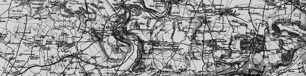 Old map of Westow Grange in 1898