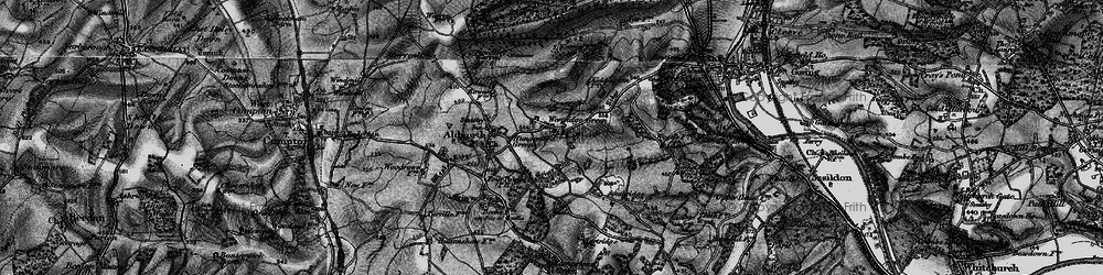 Old map of Westridge Green in 1895