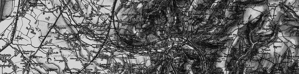 Old map of Westrip in 1897