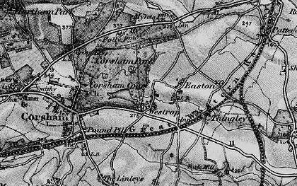 Old map of Westrop in 1898
