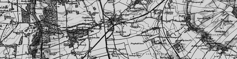 Old map of Westrum in 1895