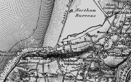Old map of Westward Ho! in 1895