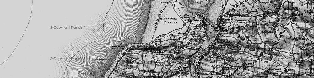 Old map of Westward Ho! in 1895