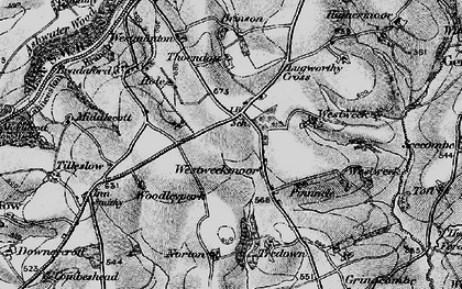 Old map of Westweek Barton in 1895