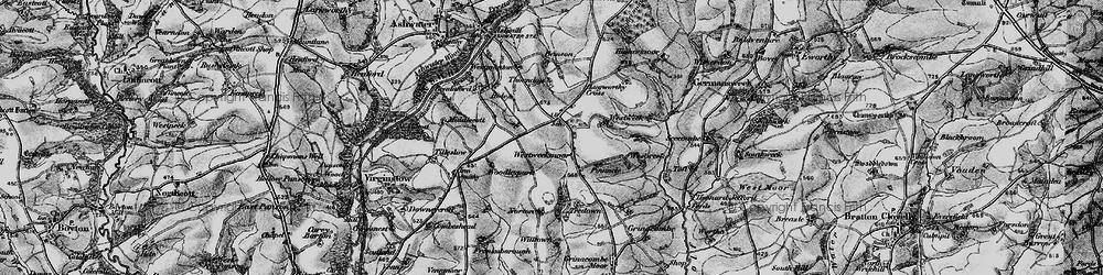 Old map of Westweek in 1895