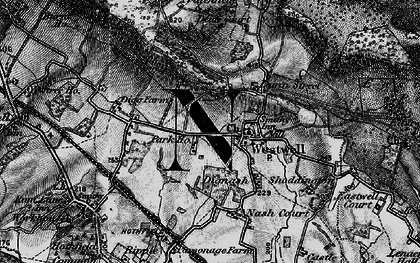 Old map of Westwell in 1895