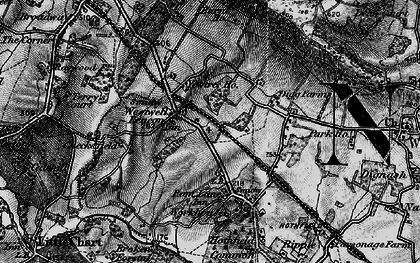Old map of Westwell Leacon in 1895