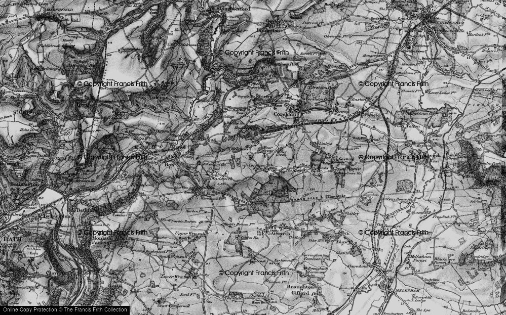 Old Map of Westwells, 1898 in 1898