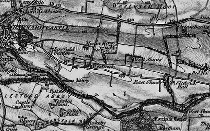 Old map of Westwick in 1897