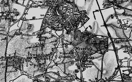 Old map of Westwick Hill in 1898