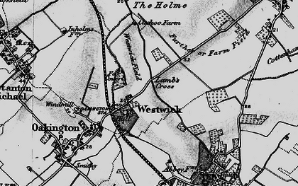 Old map of Westwick in 1898