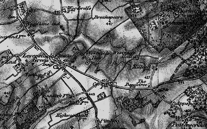 Old map of Westwick Hall in 1896