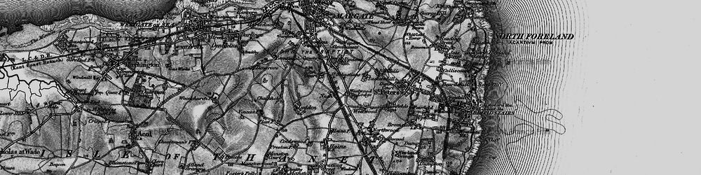 Old map of Westwood in 1895