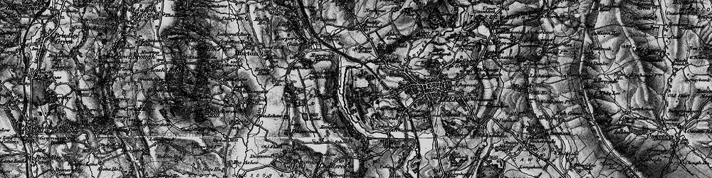 Old map of Westwood Hall Sch in 1897
