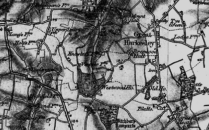Old map of Westwood Park in 1896
