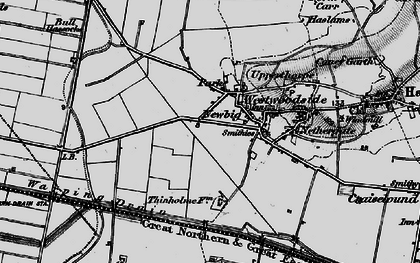 Old map of Westwoodside in 1895