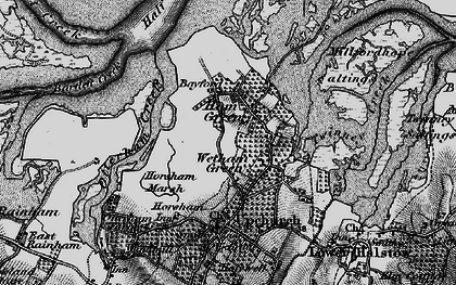 Old map of Wetham Green in 1895