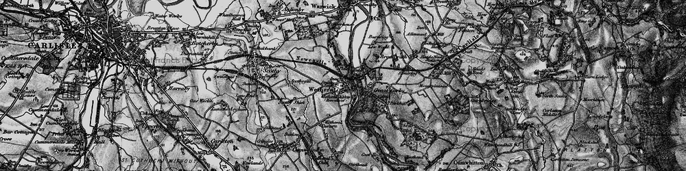 Old map of Wetheral in 1897