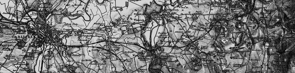 Old map of Wetheral Plain in 1897