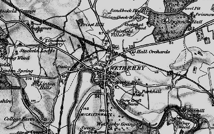 Old map of Wetherby in 1898