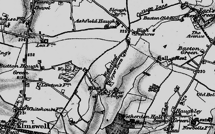 Old map of Ashfield Haugh in 1898