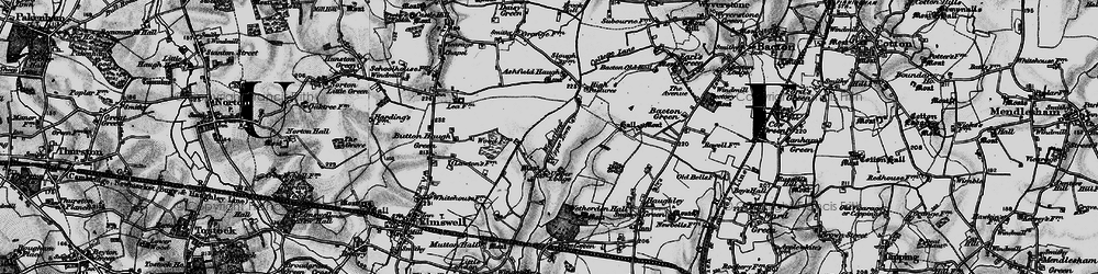 Old map of Willow Wood in 1898