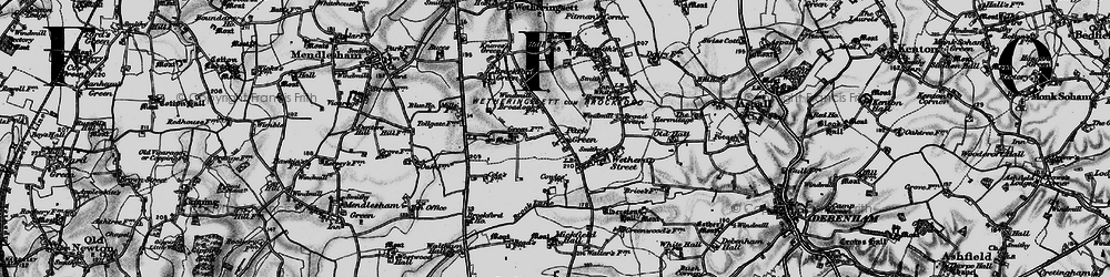 Old map of Wetherup Street in 1898
