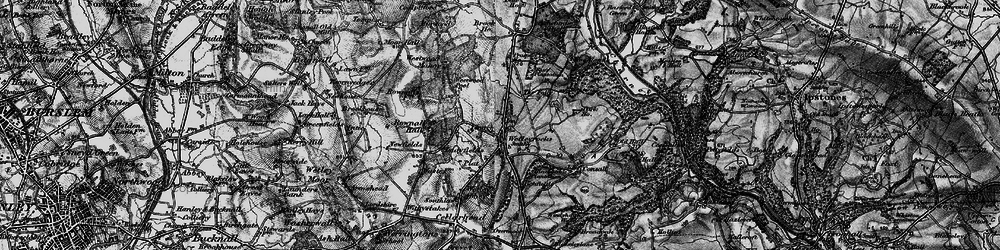 Old map of Wetley Rocks in 1897