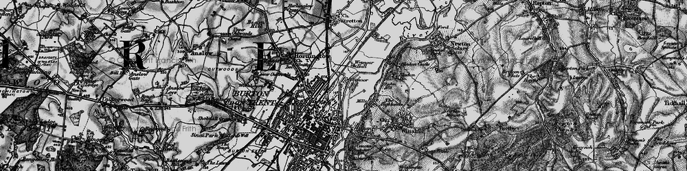 Old map of Wetmore in 1898