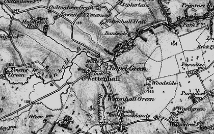 Old map of Wettenhall in 1897
