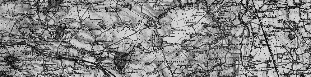 Old map of Wettenhall Green in 1897
